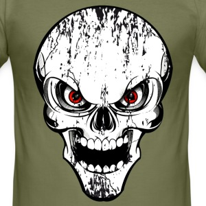 skull grunge style Tee shirts - Tee shirt près du corps Homme