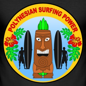 polynesian surfing power Tee shirts - Tee shirt près du corps Homme