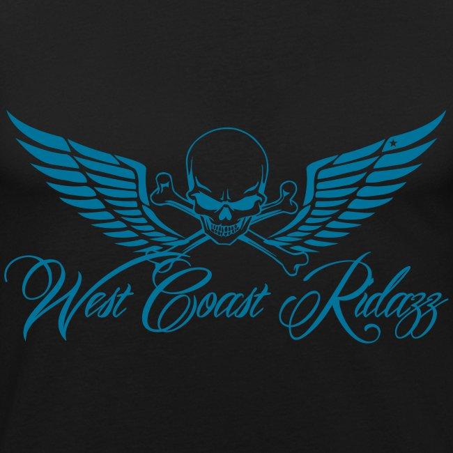 T-shirt homme skull bleu