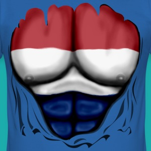 Netherlands Flag Ripped Muscles six pack chest