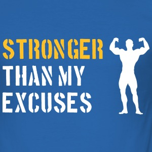 Stronger Than My Excuses T-Shirts - Men's Slim Fit T-Shirt