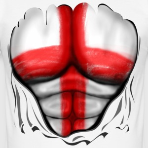 England Flag Ripped Muscles six pack chest t-shirt - Men's Slim Fit T-Shirt