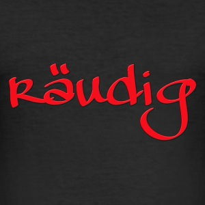Räudiges Logo. Rote Edition. T-Shirts - Männer Slim Fit T-Shirt