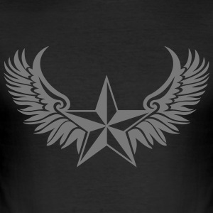 Nautical Star Wings, Tattoo Style, Protection Sign T-Shirts - Men's Slim Fit T-Shirt