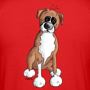 Boxer - Dog - Dogs T-Shirts - Men's Slim Fit T-Shirt