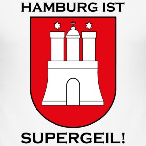 Hamburg Supergeil Werbung T-Shirts - Men's Slim Fit T-Shirt