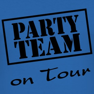 Party Team on Tour T-shirts - Slim Fit T-shirt herr