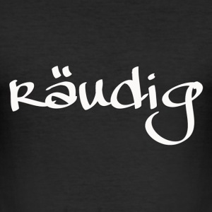 Räudiges Logo. Weiß. T-Shirts - Männer Slim Fit T-Shirt