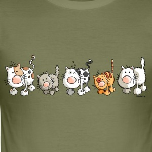 Funny Cats - Cat T-Shirts - Men's Slim Fit T-Shirt