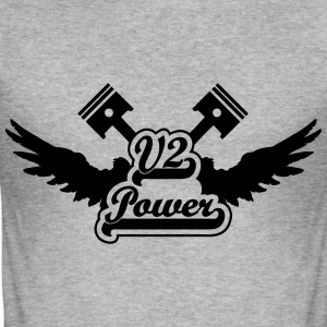 V2 Power T-Shirts - Männer Slim Fit T-Shirt