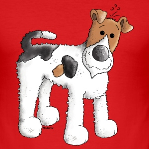 Morsom Fox Terrier - Dog - Hunder T-skjorter - Slim Fit T-skjorte for menn
