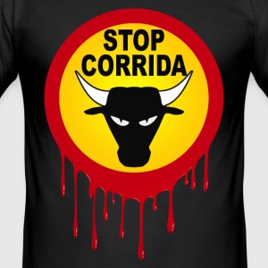 corrida stop design 01 T-Shirts - Men's Slim Fit T-Shirt