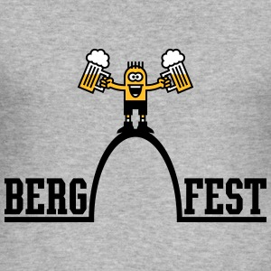 Bergfest (Halbzeit Party / 3C) T-Shirts - Männer Slim Fit T-Shirt