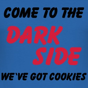 Come to the dark side...we've got cookies Koszulki - Obcisła koszulka męska
