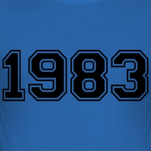 1983 T-shirts - Herre Slim Fit T-Shirt