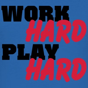 Work hard, play hard T-shirts - Slim Fit T-shirt herr