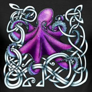 Celtic Octopus - Purple T-Shirts - Men's Slim Fit T-Shirt