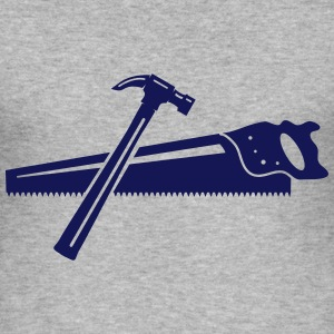 A hammer and a saw  T-Shirts - Men's Slim Fit T-Shirt