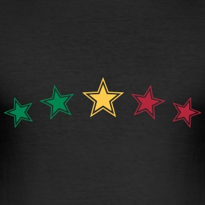 Reggae Star, Music, Rastafari, Jamaica, Jah, Rasta T-shirts - Herre Slim Fit T-Shirt