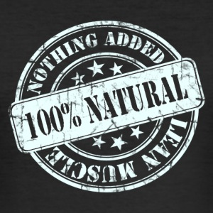 100% Natural White  T-Shirts - Men's Slim Fit T-Shirt