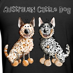 Two funny Australian Cattle Dogs T-Shirts - Men's Slim Fit T-Shirt