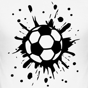 Football, Splash, Soccer, Splatter,  T-Shirts - Männer Slim Fit T-Shirt