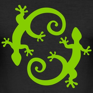 Gecko, Lizard, Bali, Indonesia, Mexico,  T-shirts - slim fit T-shirt
