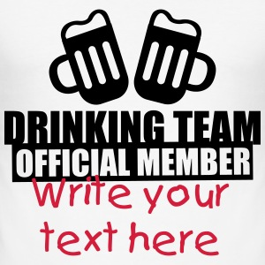 Drinking Team Party Crew Tee shirts - Tee shirt près du corps Homme