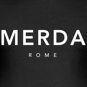 Merda Rome - Männer Slim Fit T-Shirt