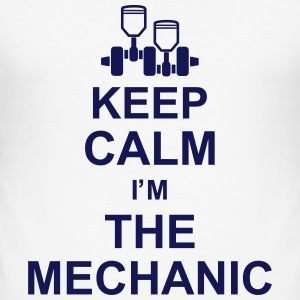 keep_calm_im_the_mechanic_g1 Magliette - Maglietta aderente da uomo