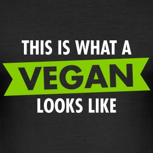This Is What A Vegan Looks Like T-Shirts - Männer Slim Fit T-Shirt