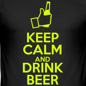 Keep calm and drink beer T-Shirts - Men's Slim Fit T-Shirt