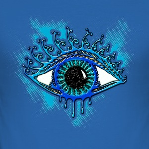 Eye, symbol protection, wisdom, healing & strength T-Shirts - Men's Slim Fit T-Shirt