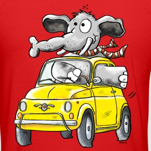 Elefant Bil - Oldtimer - Bilar - Elefanter T-shirts - Slim Fit T-shirt herr