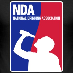 NDA National Drinking Association T-Shirts - Männer Slim Fit T-Shirt