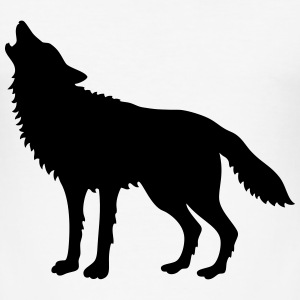 Howling Wolf (Silhouette) T-Shirts - Men's Slim Fit T-Shirt