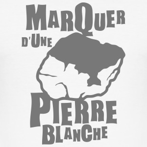 marquer pierre blanche expression Tee shirts - Tee shirt près du corps Homme