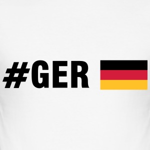 #GER (3c) T-Shirts - Männer Slim Fit T-Shirt