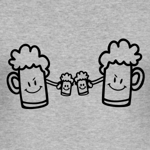 BEER DRINKING TEAM / vector / 1c / T-shirts - slim fit T-shirt