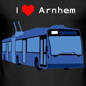 Arnhem, Trolleybus (wit) T-shirts - slim fit T-shirt