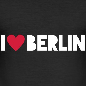 I Love Berlin T-skjorter - Slim Fit T-skjorte for menn