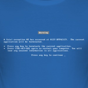 bluescreen / blue screen / fatal error / nerd T-Shirts - Men's Slim Fit T-Shirt
