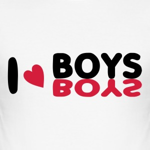 I love boys - Men's Slim Fit T-Shirt