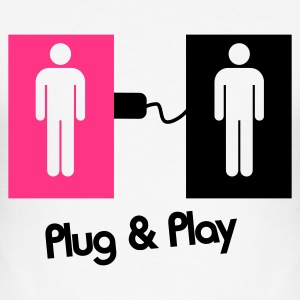 Plug & Play Gay Love ! - Männer Slim Fit T-Shirt