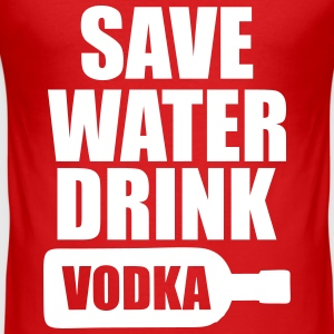 Alcohol Fun Shirt - Save water drink Vodka Camisetas - Camiseta ajustada hombre