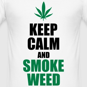 Keep Calm and Smoke Weed T-skjorter - Slim Fit T-skjorte for menn