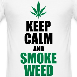 Keep Calm and Smoke Weed T-Shirts - Männer Slim Fit T-Shirt