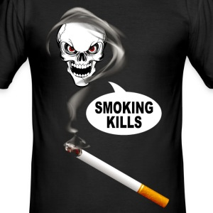 smoking kills 02 T-Shirts - Men's Slim Fit T-Shirt