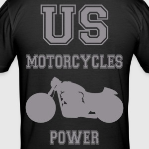 us motorcycles power 5 Tee shirts - Tee shirt près du corps Homme