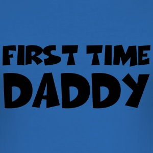 First time Daddy T-shirts - Herre Slim Fit T-Shirt